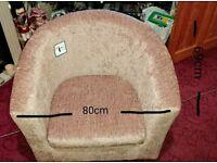 Tub chair mink