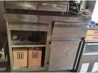Stainless steel coffee machine counter