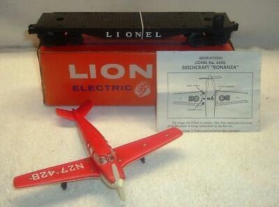Lionel 6500 Beechcraft Bonanza Transport Car with Original Box Lionel Car Transporter