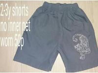 Boys 2-3 years shorts 50p