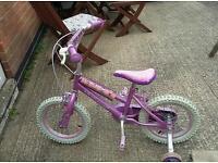 Girls 14 inch Disney bike