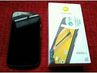Moto E 2nd gen with case mobile phone