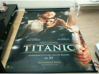 COLLECTOR'S TITANIC 3D MOVIE BANNER for sale  Hampshire