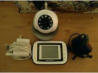 Motorola MBP41 Night Vision Baby Colour Video Monitor 2 way communication