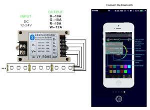 Bluetooth RGB led controller DC12V 24V 33A