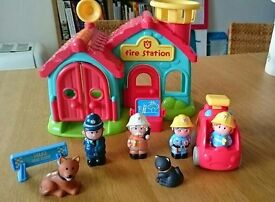 Happyland Fire Station and Policeman Set