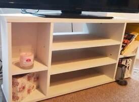 TV Stand White shelf