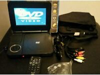 7 inch portable DVD player complete with and remote control and manual booklet