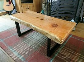 Solid cedar top table