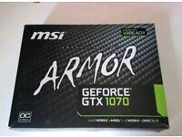 Nvidia Geforce GTX 1070, 8GB , 2 Years warranty.
