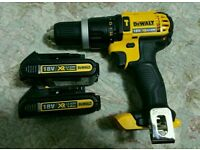 Dewalt 18v xr combi drill DCD785 with two battery (brand new)