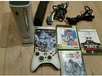 Xbox 360 complete console with 4 games