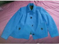 Size 20 Blue Marks and Spencer Coat