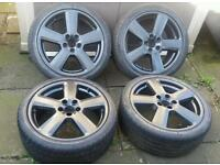 "Genuine 18"" Audi RS6 S Line Alloys 5x112 A3 A4 A6 VW Golf Touran Passat Jetta Seat Leon Skoda"