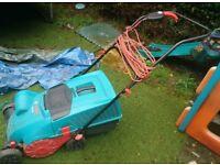 Bosch ALR 900 electric lawn scarifier.