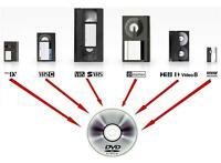 We convert VHS, camcorder, cassette tapes and record to digital