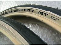 Schwalbe City Jet 1.5 amber wall tyres x3