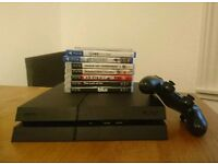 Playstation 4 Bundle: PS4 Console - 1TB, Black, Unboxed, 1 Controller, 3 Games, 5 PS3 Games