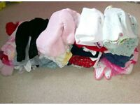 Large bundle of baby girl clothes aged 3-6 months. Over 50 items. Brislington.