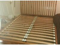King size sleigh bed pine