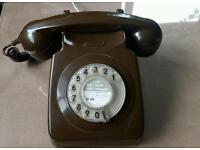 Vintage BT telephone in chocolate brown
