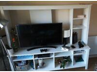 White TV storage unit