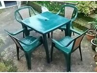 Garden table and chair furniture set