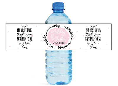 The Best Thing That Ever Happened to Me Wedding Water Bottle labels