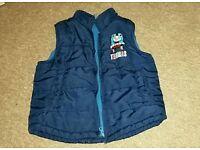 Dark blue body warmer/ sleeveless jacket, age 3-4