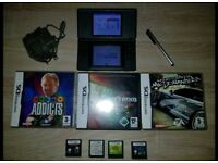 Nintendo ds lite with 7 games