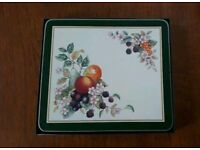 Set of 6 Johnson Brothers Fresh Fruit Design Placemats/ Tablemats with box