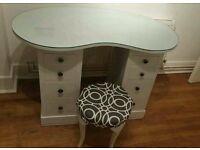 Vintage light grey dressing table £65 ONO
