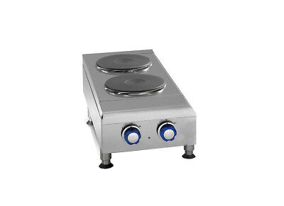 Imperial Range Ihpa-2-12-e 12 Countertop Electric Hotplate With 2 2kw Burners