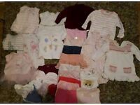 Bundle of baby girl 0-3 month clothes 30 items