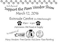 Support the paws vendor show.