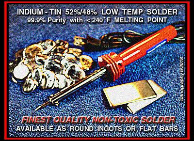 Indium-tin 5248 Eutectic Solder Alloy Mp.231f 31gram Aerospace Grade 99.9
