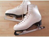 Women's / ladies figure ice skates white
