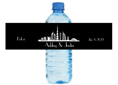 Themes For Sweet 16 Birthday Parties (Dubai Theme Water Bottle Labels Great for Birthday Party Wedding Sweet)