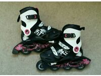 Oxelo inline skates for sale, size 1 to 3