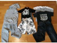 Next 5-6 Boys Clothes Bundle. T-shirts, swim shorts, tracksuit jeans