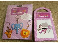 Crafts - Make Your Own Key Rings and Fashion Tags Girls Boys Kids