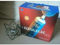 Blue spark digital microphone with shock mount.