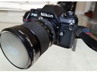 Nikon F-301 Classic SLR with 2 lenses and case