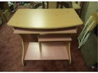 Curved Computer Study Desk Trolley