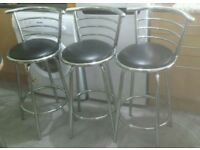 3 X Kitchen Breakfast Bar stools