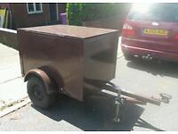 Car box trailer 4x3 ft fully enclosed with locks vgc