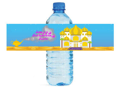Arabian Nights Themed Water Bottle Labels Wedding Anniversary Engagement Party