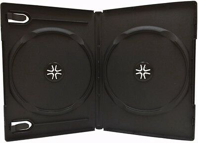 25 New Premium Black Double Multi hold 2 Discs DVD CD Cases, Standard 14mm, WB