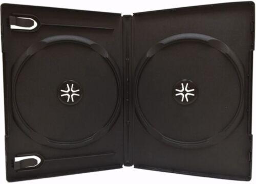25 Double DVD Cases, Black, Premium Grade, 2 Disc DVD Cases, Standard 14mm WB
