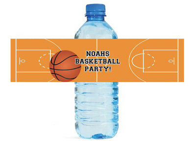 100 Basketball Theme Custom Water Bottle Labels Great for Tournaments, games